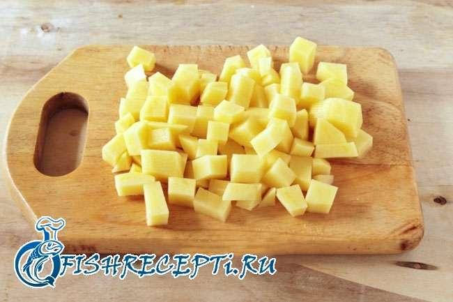 нарезанный картофель